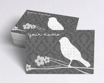 Business Cards  Custom Business Cards  Personalized Business Cards  Business Card Template  Modern Business Cards  Bird Business Card B1