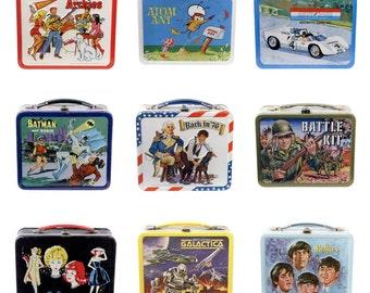 Retro Lunchbox Magnet - Barbie Doll, Batman & Robin, Beatles, Battlestar Galactica, Battle Kit, Auto Racer, Atom Ant, Ringo, Paul McCartney