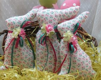 BUNNY Tuckins, Set of 3 Bunny Tucks,Easter Bunny, Bunny Ornaments, Bunny Decorations, Easter Ornaments, Easter Decorations, Stuffed Bunnies