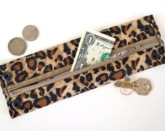 Secret Stash Money Cuff -   Tiger Tail - hide your cash, key, jewels, health info ,  in a hidden inside zipper...