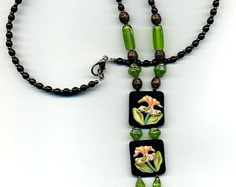 Polymer clay necklace