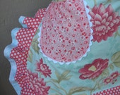 Aprons - Bridal Aprons - Cottage Chic Aprons - Rose Aprons - Blue Handmade Apron - Chic and Shabby  Apron - Annies Attic Aprons