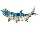 Metal Tarpon Fish Trophy Wall Sculpture