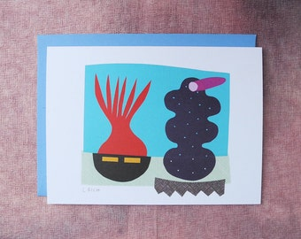 Abstract Collage Card - Siblings