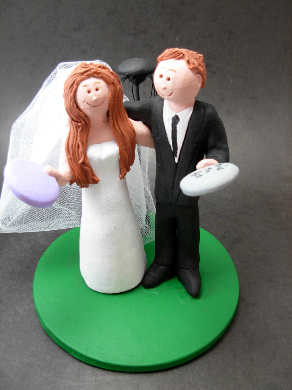 Frisbee Golfers Wedding Cake Topper, Disc Golf Wedding Cake Topper ...