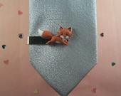 Fox Tie Clip
