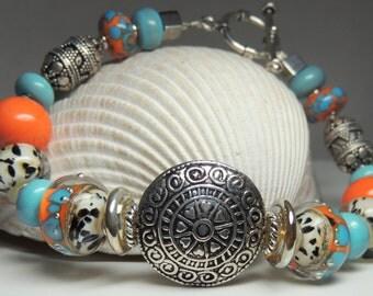 ADVENTURER Handmade Lampwork Bead Bracelet