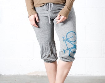 Bicycle Crop Pants- drawstring, Road Bike Medium