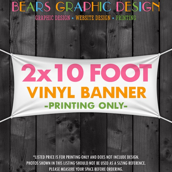 2x10 Foot Vinyl Banner Printed for your Craft Fair, Trade Show, Booth, Table