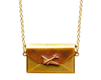 Jet aime Letter Necklace