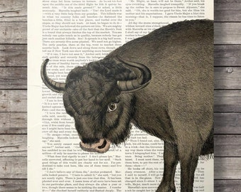 Vintage El Toro Bull dictionary book page art print - digital printable art print