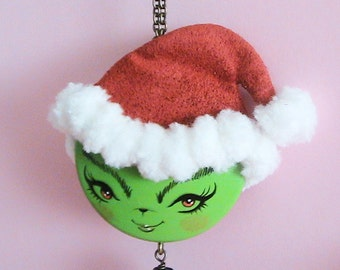 Ms.Grinch Doll Face Necklace