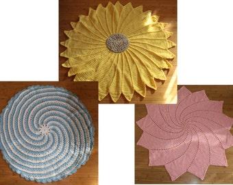 3 crochet baby blanket pdf pattern combo
