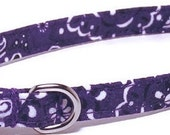 XS Dog Collar - Deep Purple Bandana - Extra Small Teacup, Miniature - Cute, Pretty and Fancy