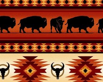 Elizabeth Studios Native Pattern Buffalo Stripe Terra, 1 Yard