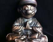 Bronze Super Mario  Buddha original  sculpt and cast Mario Bros
