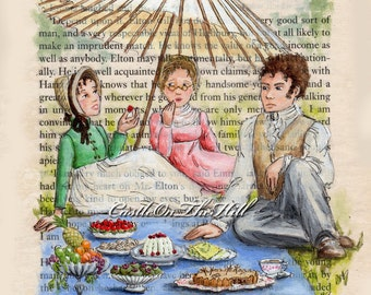 Jane Austen - Emma - Picnic on Box Hill - print