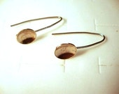 Everyday Earrings - Salad Days - comfortable - eco-friendly 925 sterling silver from recycled sources - 10mm bowl - Custom Made by my hand