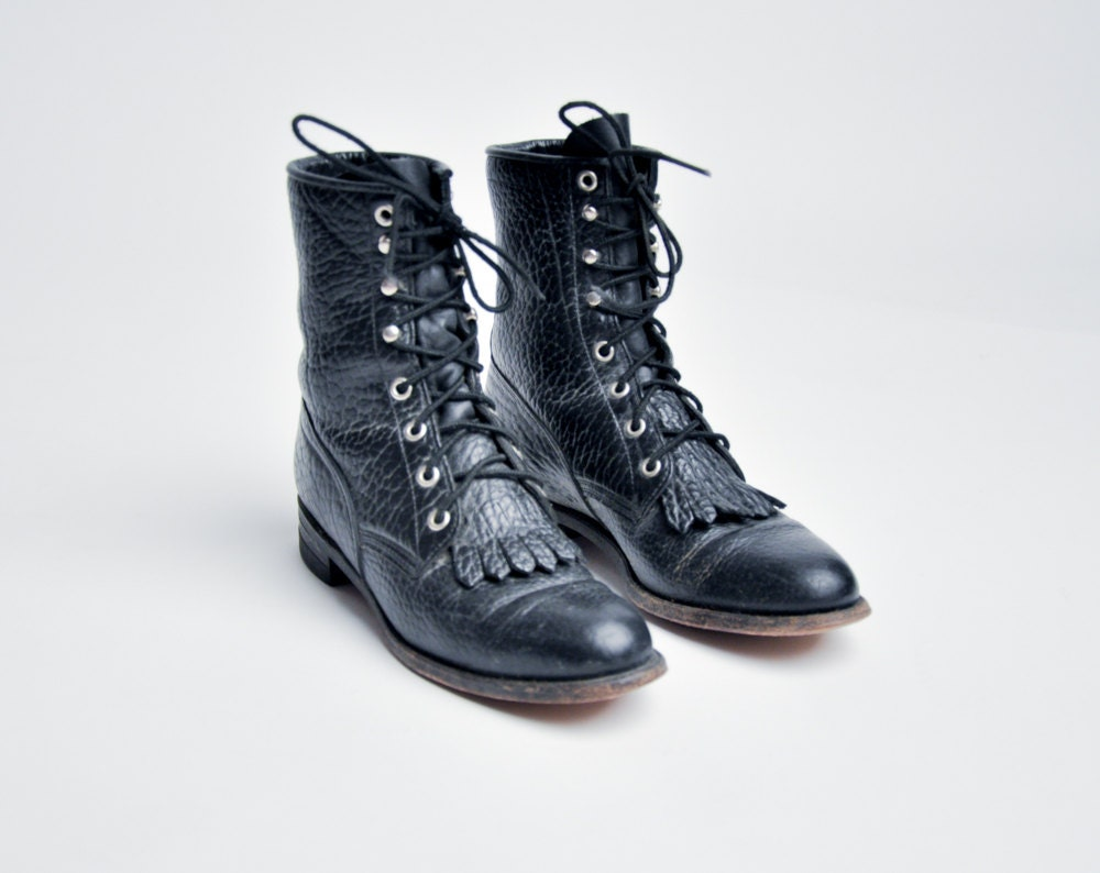 desperanto leather paddock boots black by persephonevintage