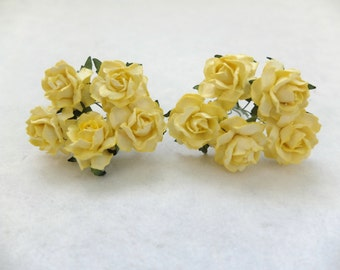 "10 1"" mulberry paper yellow roses"