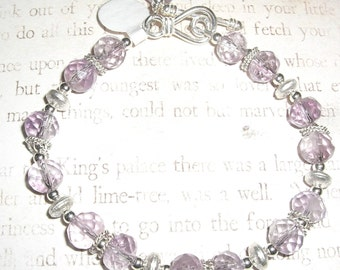 Amethyst and Sterling Bracelet
