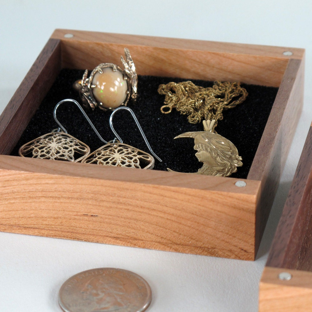 Jewelry Box Small Wooden Jewelry Box Walnut Wood And Cherry