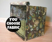 Designer Dog Crate Cover - Dog Bed Duvet Covers - Choose from 100s of Fabrics - Linen, Denton, Birch .......