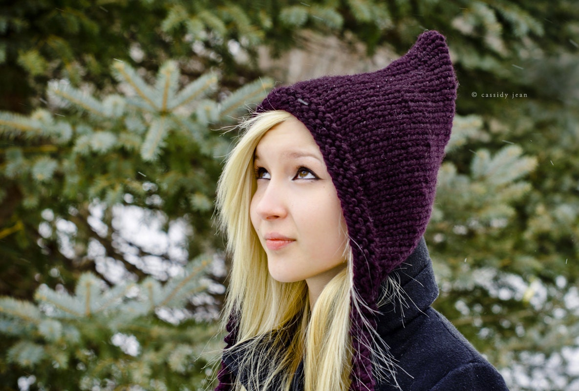 Knitting Pixie Hat Free Pattern : Instant Download Knitting Pattern - Knit Hat Pattern Signature Pixiebell Pixi...