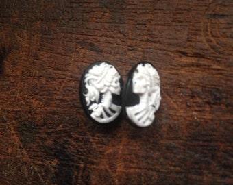 Lady Death Cameo earrings