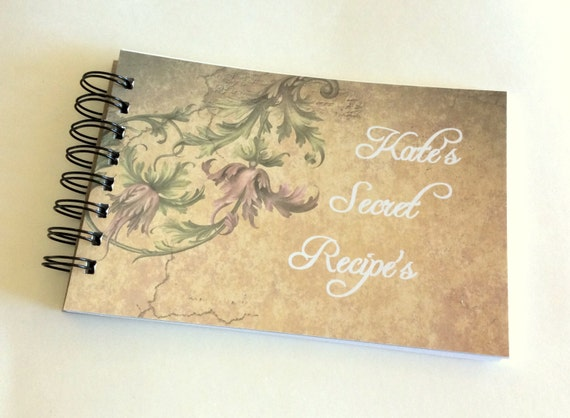 Recipe Book, personalized, custom book, recipe cards, party favor, gift book