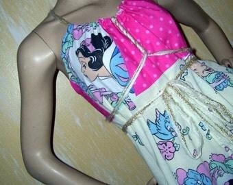 Snow White Sundress Dopey Dwarf Hippie Geek Dress Adult Mom Disney Princess Snow White Party Dress M L XL XXL Plus