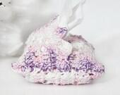 Purse Size Travel Tissue Holder, Crochet Tissue Case , Travel Tissue Cover, Pink, Purple, White Tissue Pouch