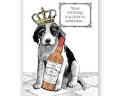 Puppy Birthday Card