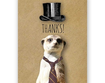 Thank You Meerkat Card Set of 12