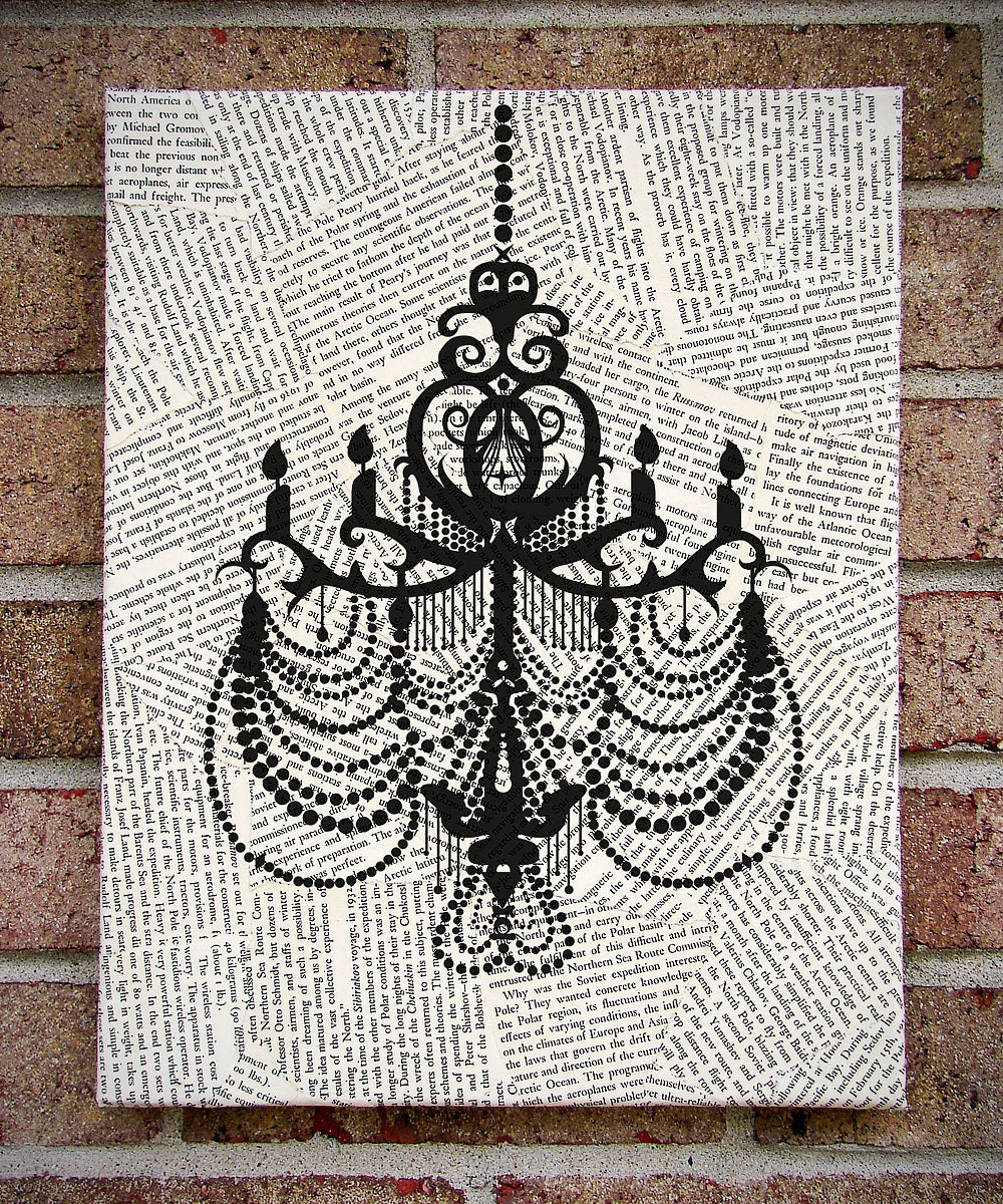 Art on Canvas Chandelier Wall Art Prints on by
