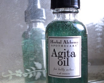 Agita Oil, a Massage Oil for Upset Stomach and Cramping