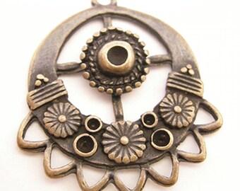 4pc antique copper chandelier component-1263