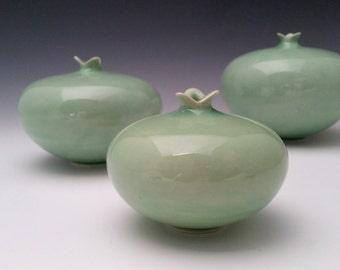 Ceramic Vessel, Pomegranate Vase, Modern Minimalist Pottery
