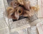 Reserved - SALE - Antique Hair Curls - Hair Memorial Mourning - 1914