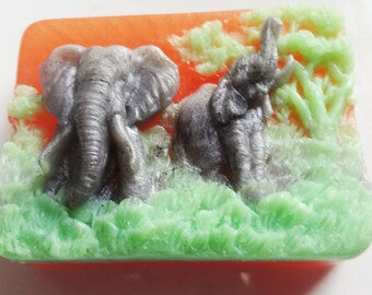 Elephant Soap - Glycerin Soap - Safari Soap - Bar Soap - Phthalate Free - Vegan Soap – Soap for Him - Fragrance Soap – SLS Free