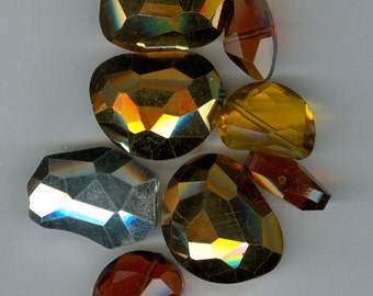 Bag O Crystal Beads - Shades of Yellow Glass Beads 304