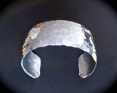 """Hammered 1"""" DOMED Cuff in Pure Food Safe Aluminum"""