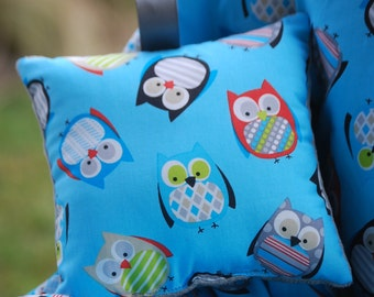 Shopping Cart Cover for Boy or Girl Custom by Tinder Designs Boutique -  Tossed Owls