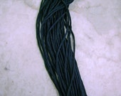 New Black Hand Dyed 100% Silk Cords Strings for Kumihimo Braids, Necklaces, Bracelets
