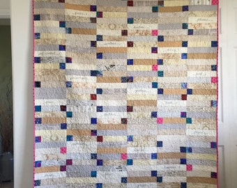 SALE! Healing quilt comfort positive affirmations words stitched bible
