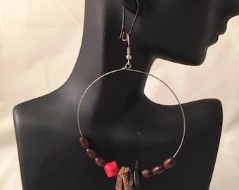 Hoop Earrings Asymmetric