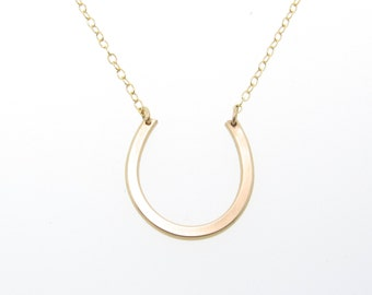 Gold Horseshoe Necklace, Anastasia Steele, Fifty Shades of Grey - 14K Gold, Gold Filled or Sterling Silver