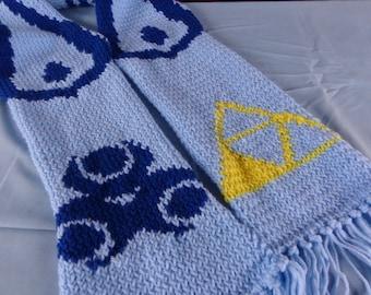 Zelda-inspired Triforce of Wisdom scarf
