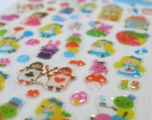 Kawaii Glossy Crystal Poly Japanese Sticker - Bedtime Story - Alice at the Fun Fare (1312)