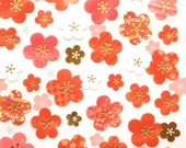 Plum Blossom Stickers - Japanese Washi Paper Stickers - Chiyogami Flower Stickers   (S216)